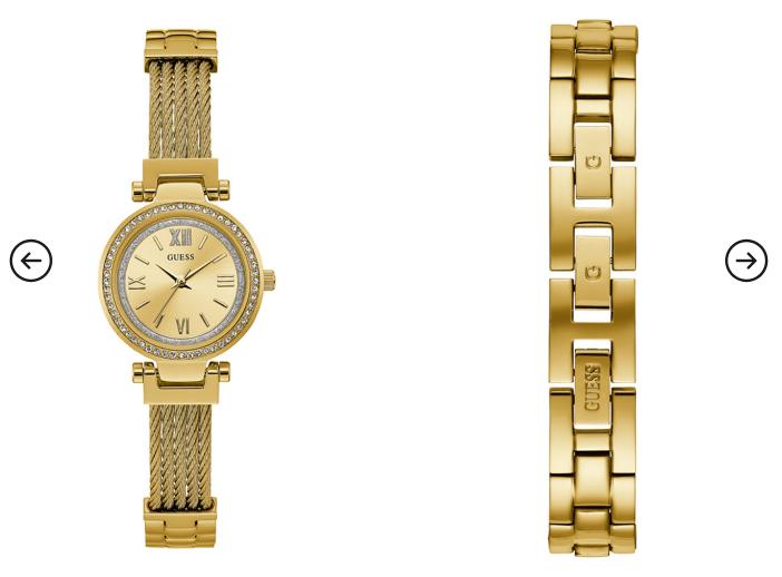Ceas dama auriu eleganta original modern Guess Jeans W1009L2