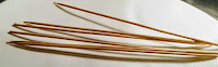 Bamboo or wooden stick for chicken satay recipe