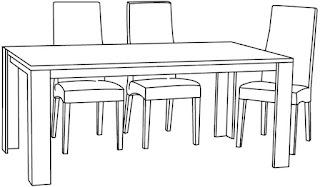 Gambar Meja Makan dengan Kursi