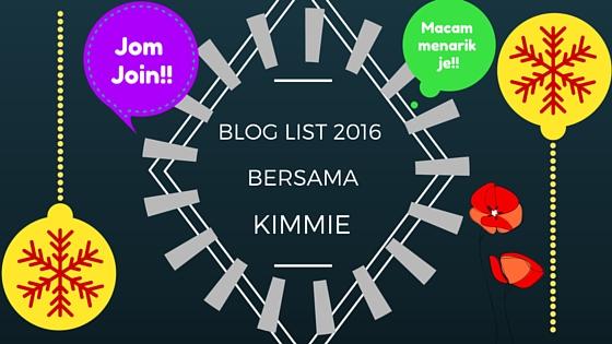 SEGMEN PENCARIAN BLOGLIST 2016 BERSAMA KIMMIE