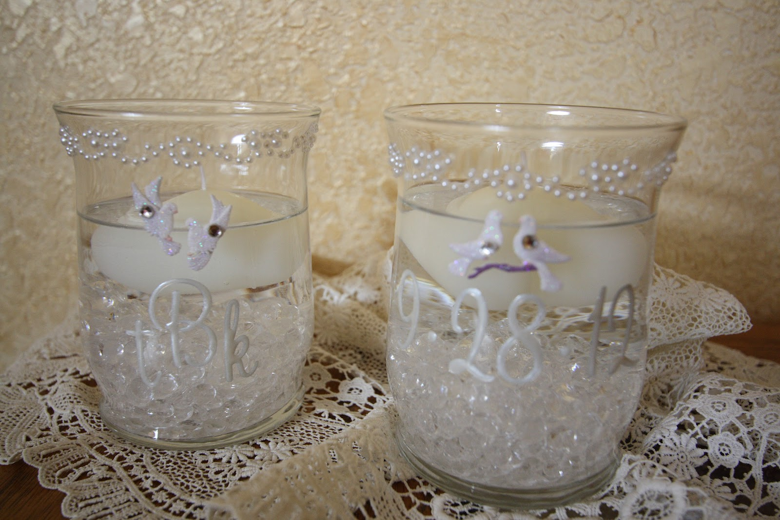 His Hers And Ours Diy Wedding Candle Holders