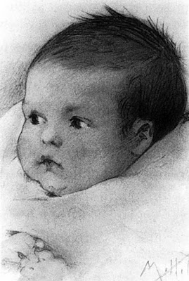 Maud Humphrey Bogart's 1900 drawing of her son