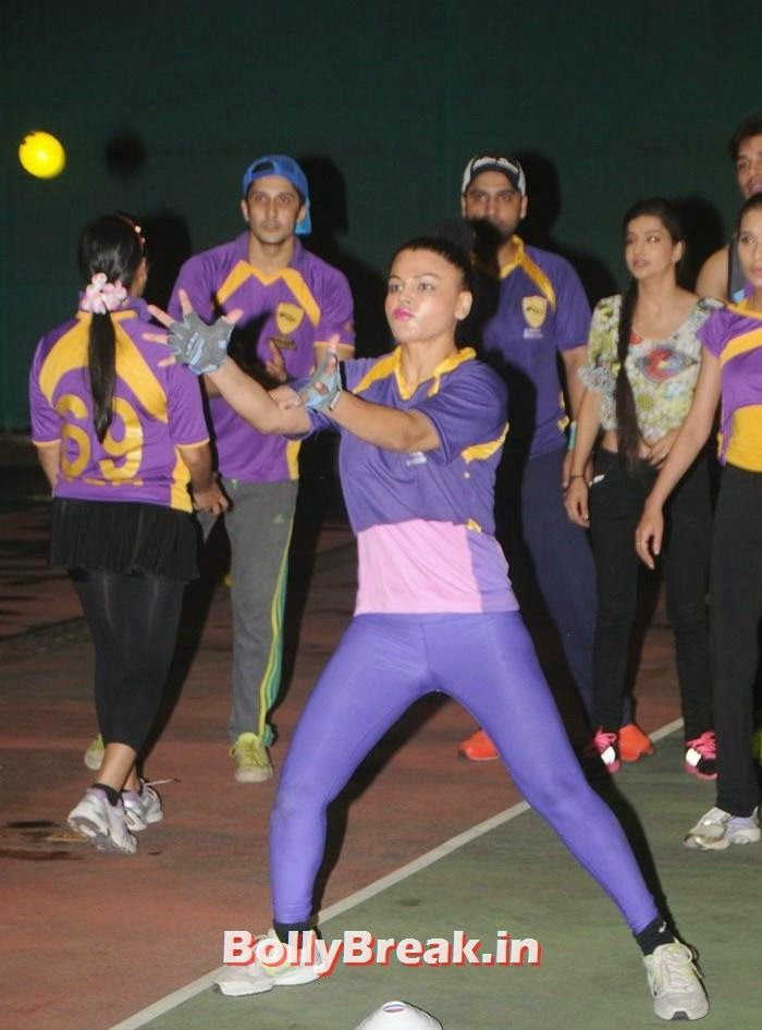 Rakhi Sawant, Pics from BCL Team Rowdy Bangalore Practice Match
