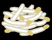 ラーメンのトッピングのイラスト(もやし)