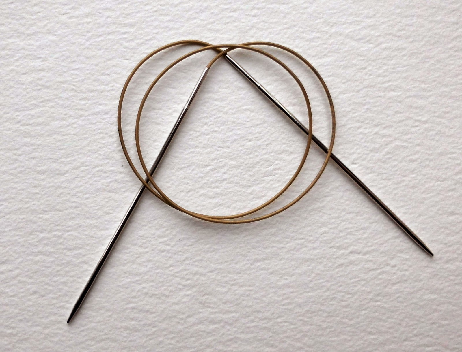 Long circular needle for magic loop