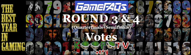 GameFAQs Best Year in Gaming Round 3 4 Quarterfinals Semifinals KoopaTV banner