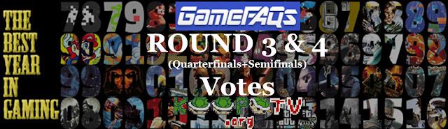 GameFAQs Best Year in Gaming Round 3 4 Quarterfinals Semifinals KoopaTV banner