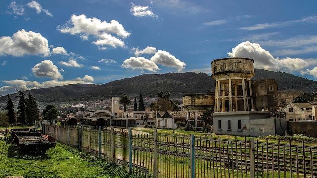 Antigua estación de tren en Tlemcen, Argelia.
