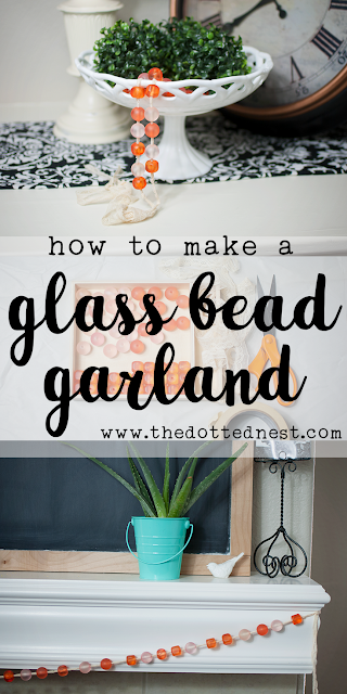 DIY Glass Bead Garland