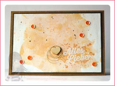 Stampin' Up! rosa Mädchen Kulmbach: Geburtstagskarte in Aquarelltechnik mit Paarweise