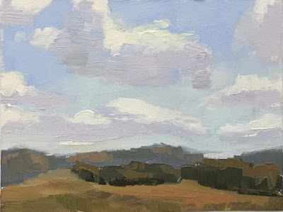 mini painting color study clouds over NC Museum of Art May 19 2019