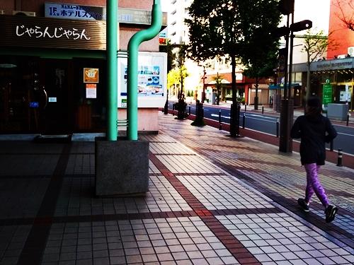朝ジョグ♪ じゃらんじゃらん ナナビーンズ店前 @山形市七日町