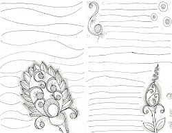 drawing doodle simple line drawings embellished tiny sketchbook challenge circles dots very complete