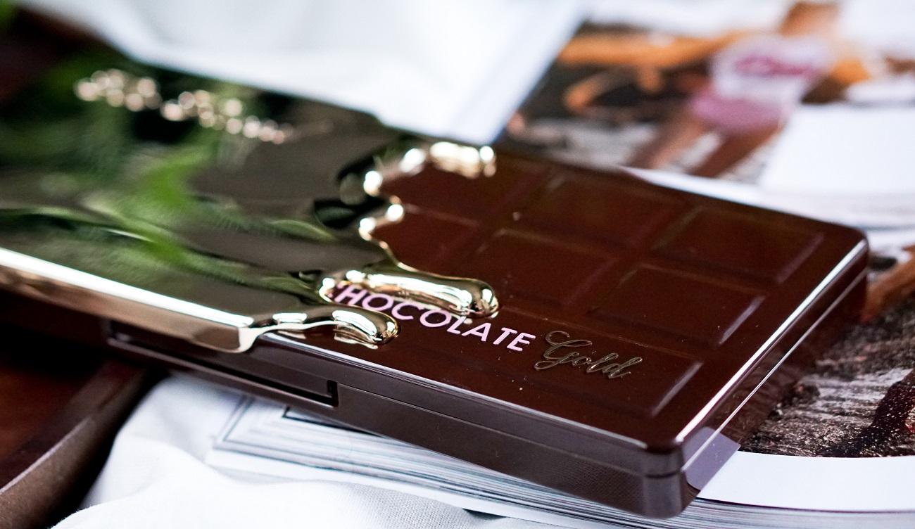 Too Faced - Chocolate Gold, metaliczne cienie, foliowe cienie, foliceyeshadow,