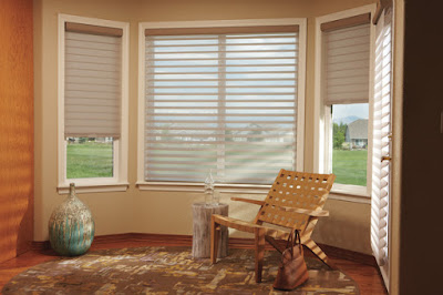 Hunter Douglas Silhouette window shadings provide an ideal balance between light and privacy.