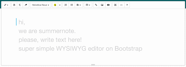 summernote text editor