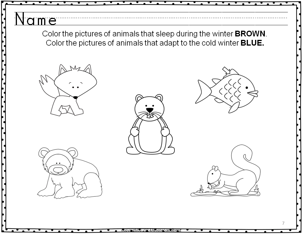 Classroom Freebies Animals In Winter Literacy Activities