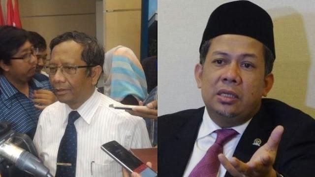 Pesan Menohok Mahfud MD: Fahri Hamzah Itu Pakai Kopiah untuk Menyimpan Duit