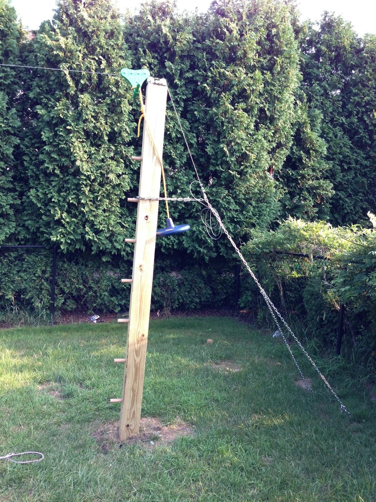 Backyard zip line for How to build a backyard house