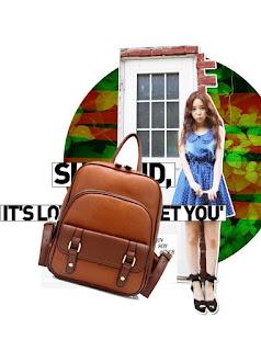 Tas Ransel Cewek Model Retro Korea Terbaru Juli 2016 Murah Nan Cantik
