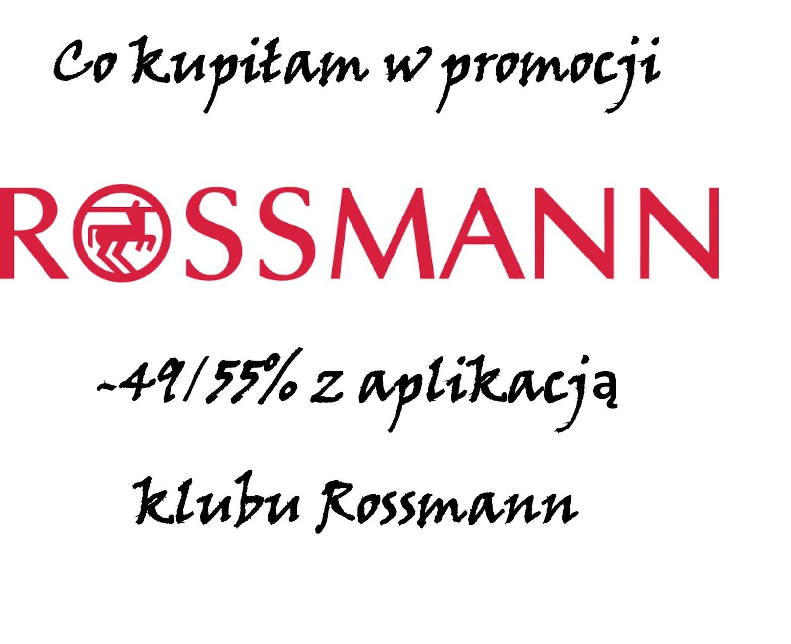 Co kupiłam na promocji drogerii Rossmann/ akcja Wielkie porządki w kosmetyczce/ kwiecień 2018