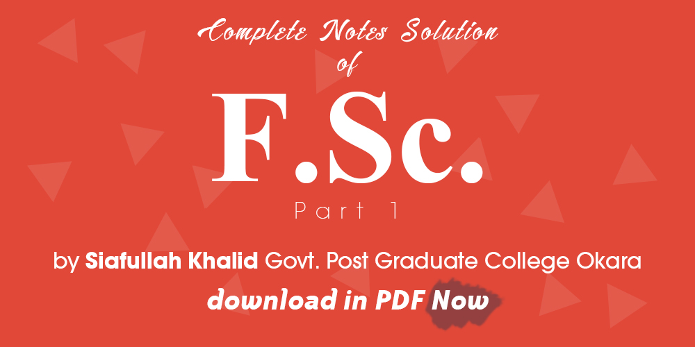 Bsc Notes Complete Online PDF Download: FSC Physics Part 1
