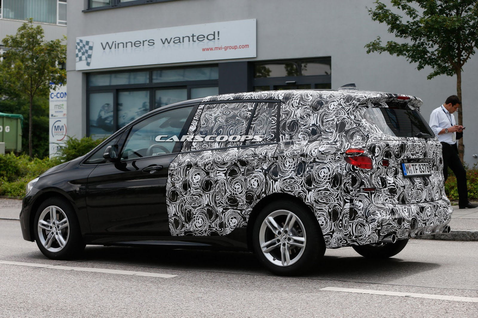 spied bmw 2 series active tourer is expecting a 7 seat version carscoops. Black Bedroom Furniture Sets. Home Design Ideas