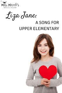 Liza Jane: A fun song for upper elementary music! Includes a video with the hand jive!