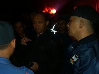 Kapolres Pesawaran Tinjau  Lokasi Kebakaran Gudang Minyak Di Lempasing