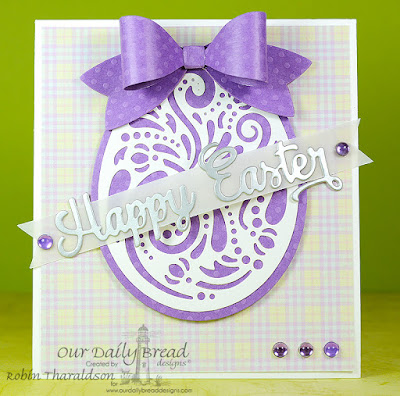 Our Daily Bread Designs Custom Dies: Happy Easter, Medium Bow, Boho Egg, Our Daily Bread Designs Paper Collection: Pastel Paper Pack 2016