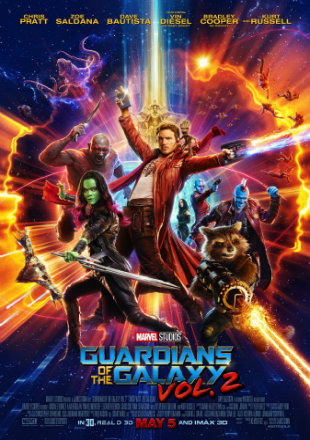 Poster of Guardians of the Galaxy Vol. 2 (2017) BRRip 1080p Dual Audio In Hindi English