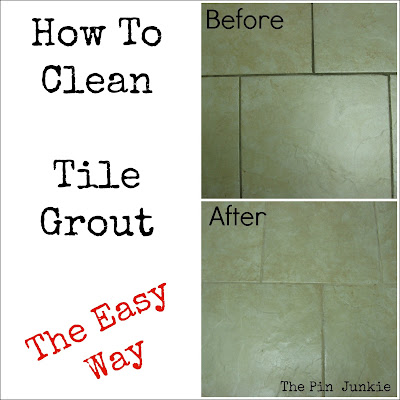 how to clean light colored tile grout