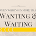 When Wishing is more than Wanting and Waiting