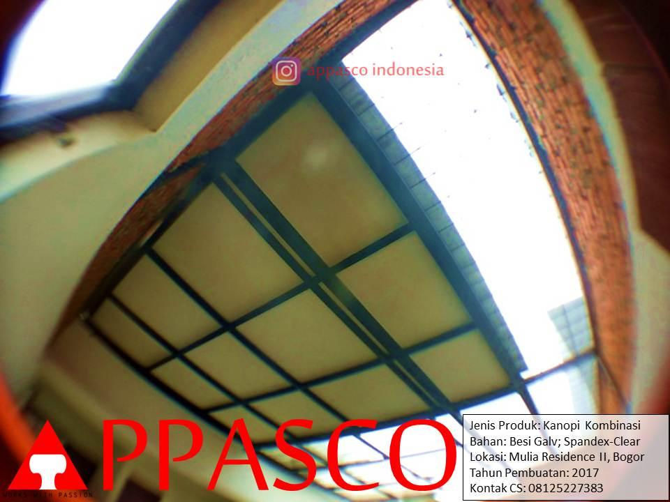 Kanopi Kombinasi Spandek Peredam dan Polikarbonat untuk Bagian Belakang Rumah
