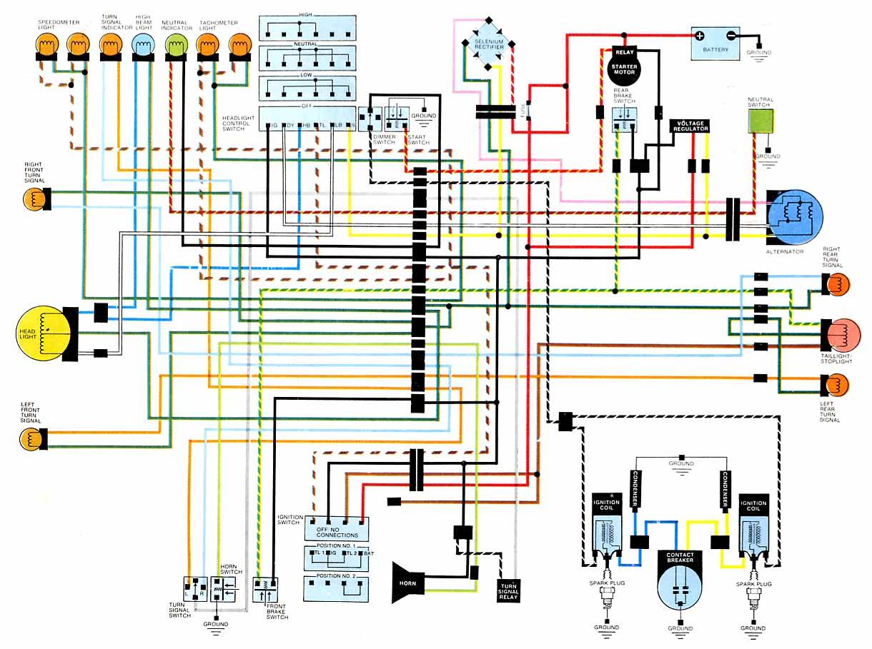 cafe racer wire diagram [ 1220 x 909 Pixel ]