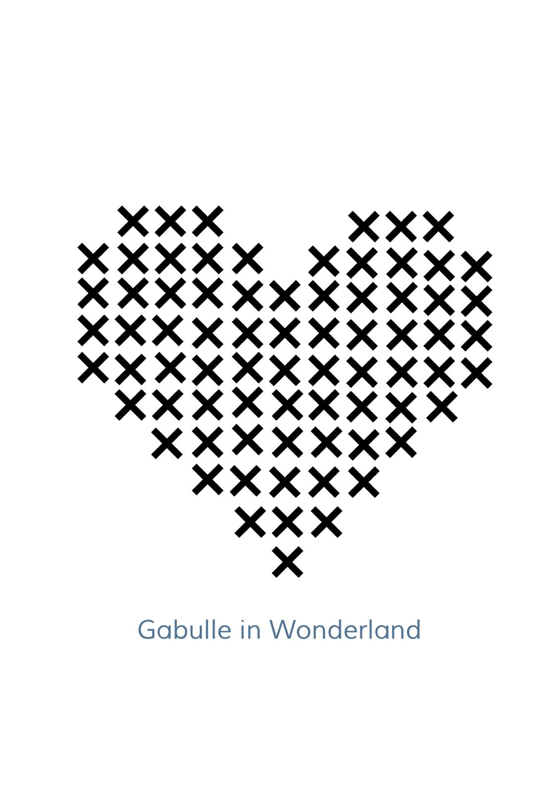 Gabulle In Wonderland Tote Bag Coeur Points De Croix