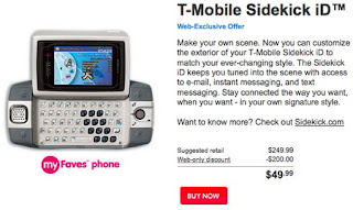 T-Mobile Sidekick iD back again only $50