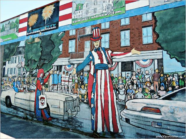 Mural Desfile 4 de Julio en Bristol