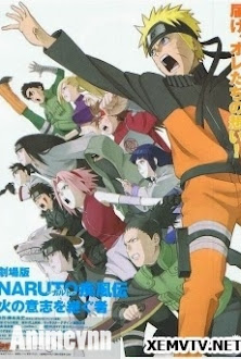 Naruto Shippuuden Movie 3-Người kế thừa ngọn lửa ý chí - Naruto Shippuuden Movie 3: Inheritors of the Will of Fire 2009 Poster