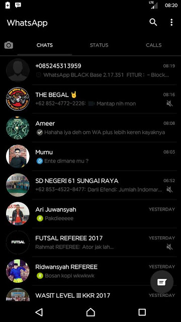 whatsapp Black 2.18.9 Apk terbaru