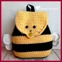 Mochila abeja a crochet