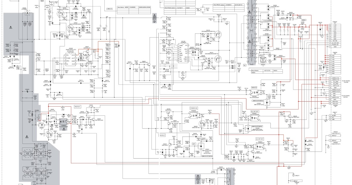 Schematic Diagrams  Sony Kdl 46  T3500  40v2900  U2013 Smps