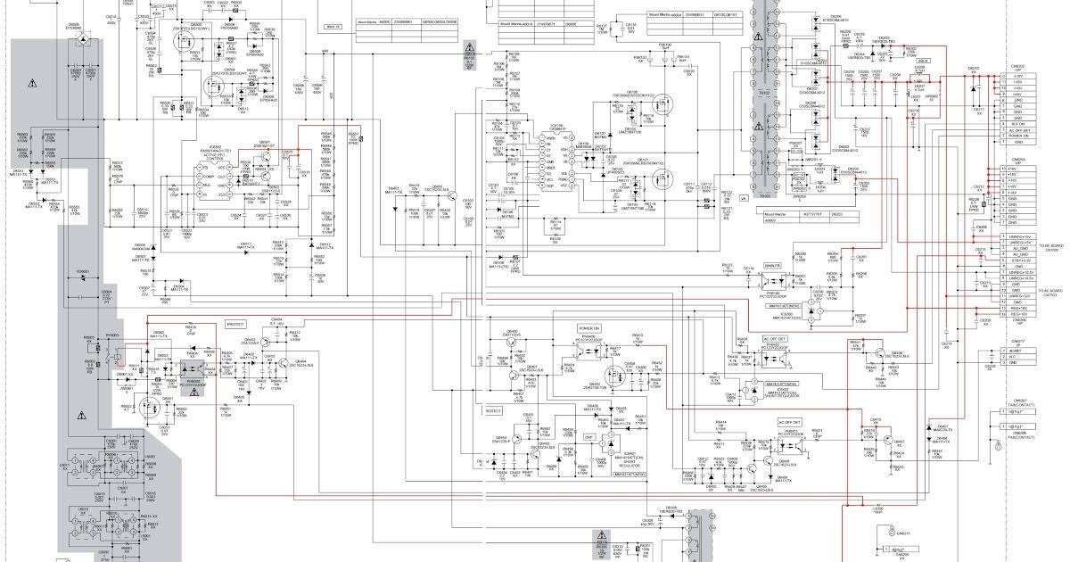 Schematic Diagrams: Sony KDL-40/46/T3500/40V2900