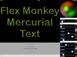 MercurialText: Embossed Type using SceneKit and