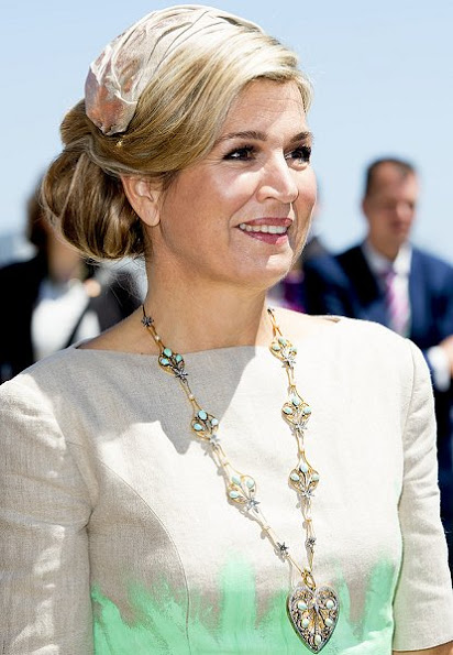 Queen Maxima Mattijs van Bergen Dress,  Jimmy Choo Tilly Pumps, Natan Clutch