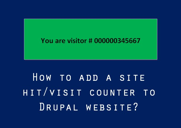 How to add a site hitvisit counter to Drupal website