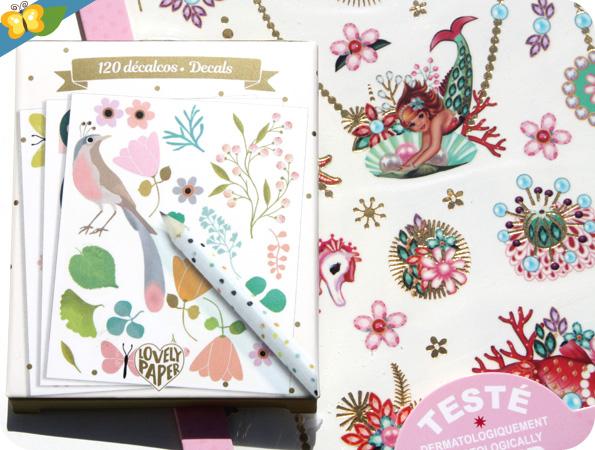 Tatoos Fiona Hewitt de Djeco et Décalcomanies Lovely Paper