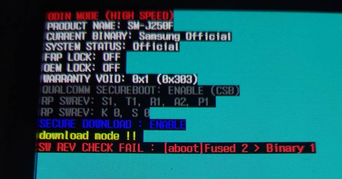 Samsung SM-J250F Dead Recovery Firmware [aboot] Fused 2
