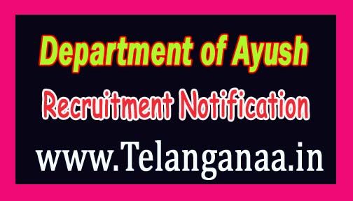 Department of Ayush Government of Haryana Recruitment Notification 2016