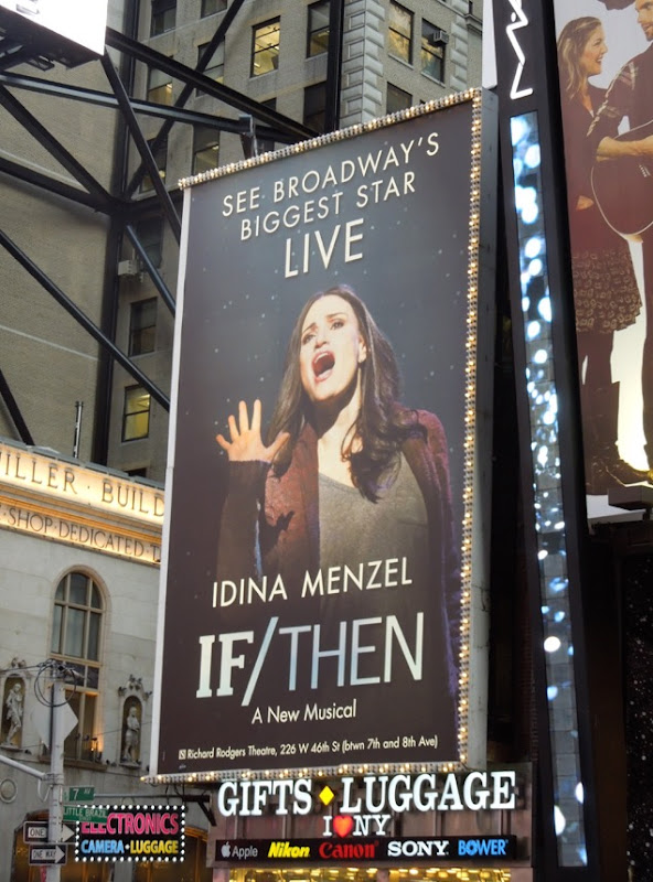 Idina Menzel If Then Broadway Musical billboard NYC